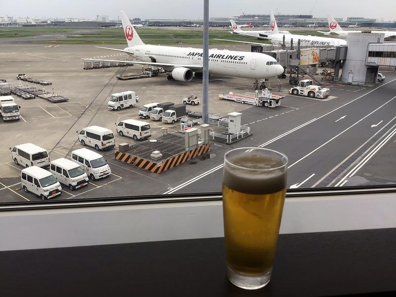 生ビールと飛行機