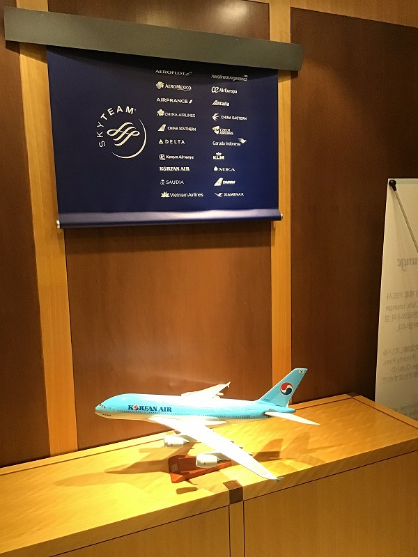 大韓航空飛行機模型&スカイチーム
