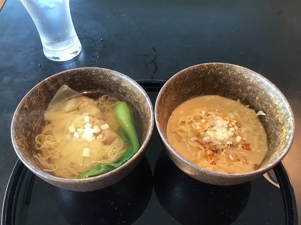 ワンタン麺と担々麵