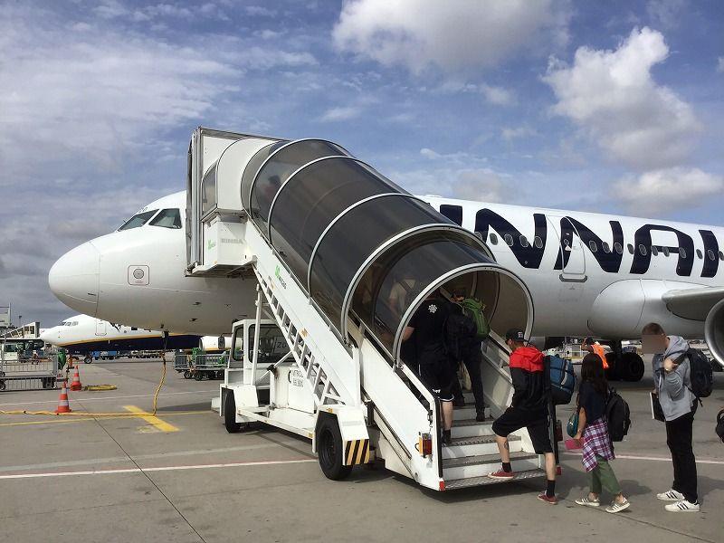 ヘルシンキ行き飛行機