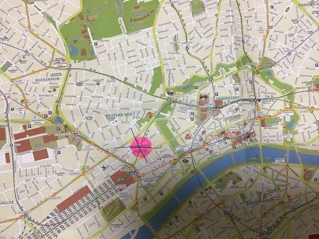 フランクフルト地図