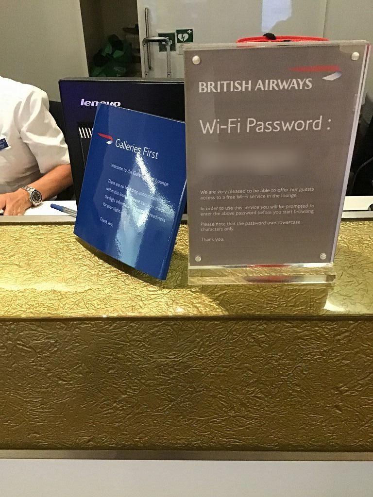 wifiパスワード(インフォメーションカウンター)