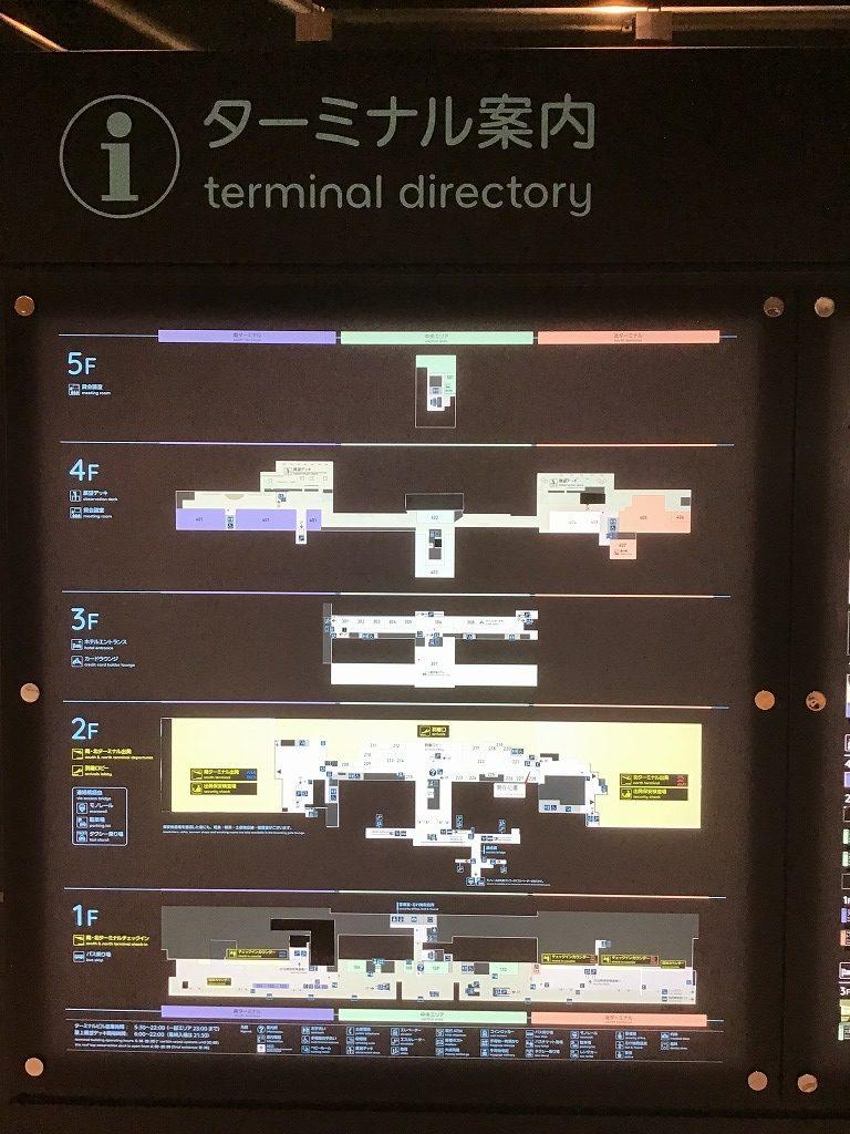 空港ターミナル案内板