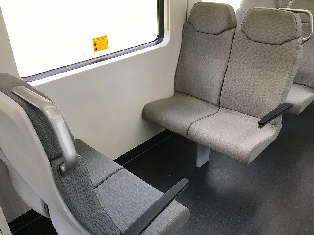 電車(KLIA ekspres)車内