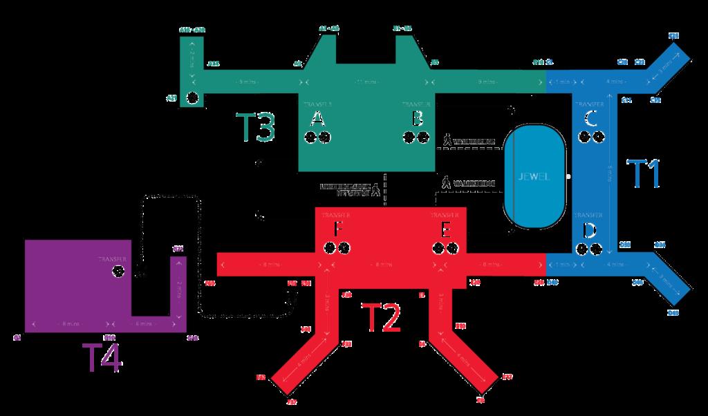 チャンギ国際空港マップ
